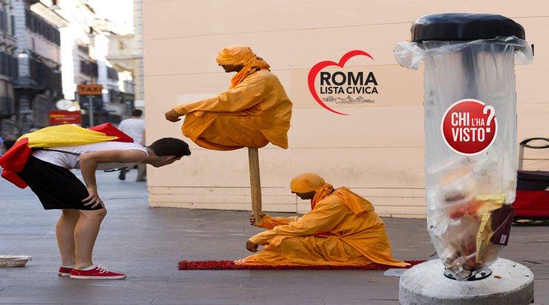 Un fachiro equilibrista nelle strade di Roma