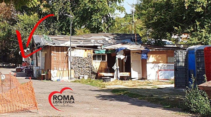 Campo Rom via del Foro Italico via Olimpica