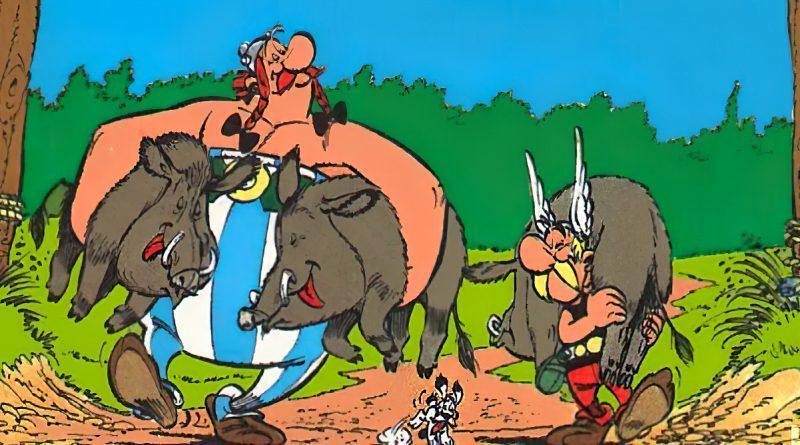 Asterix e Obelix ed i cinghiali di Roma