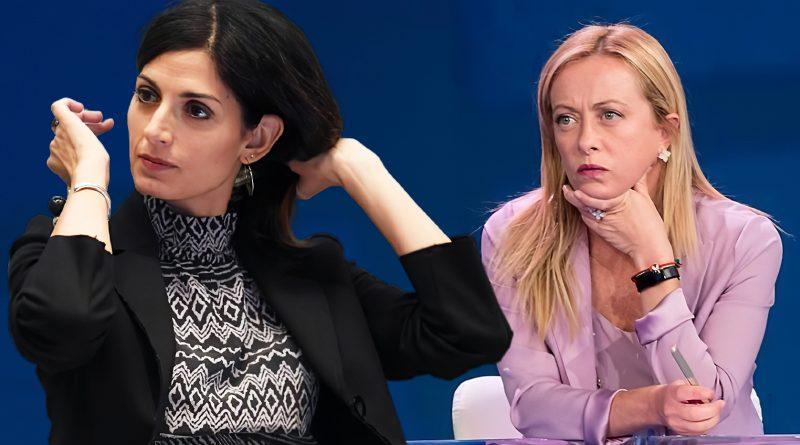 Virginia Raggi e Giorgia Meloni