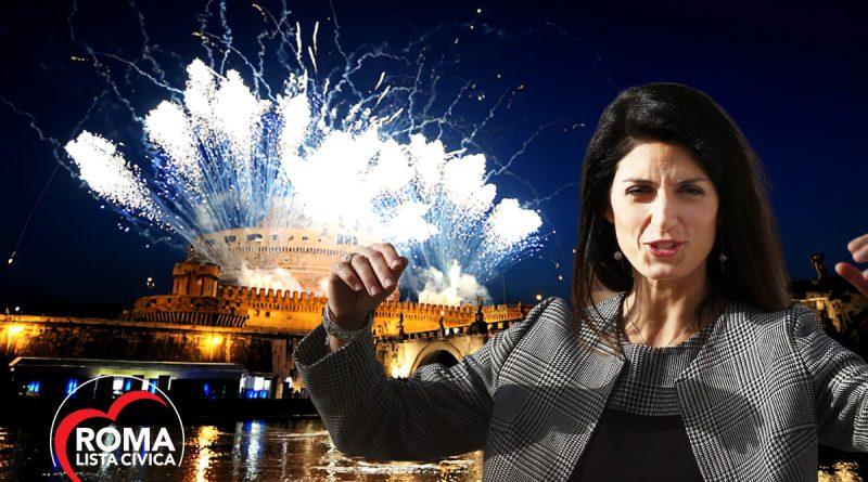Virginia Raggi fuochi d'artificio Capodanno 2021