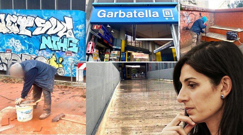 Passerella Stazione Metro Garbatella